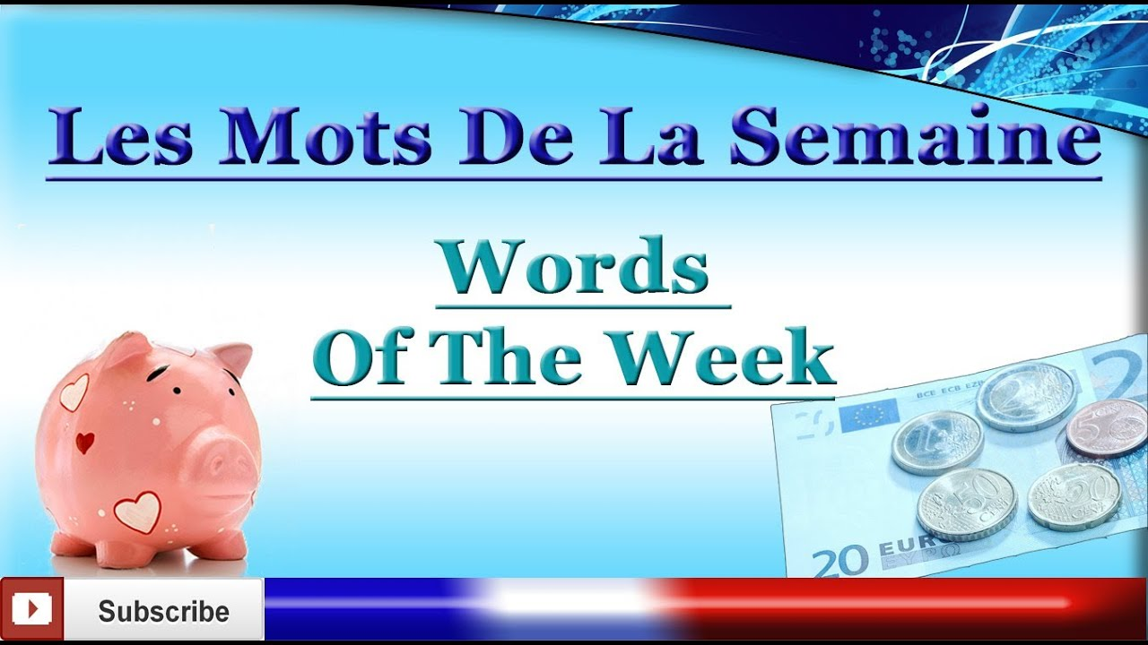 Learn French - Money Vocabulary - Words Of The Week - Les mots de la semaine #5
