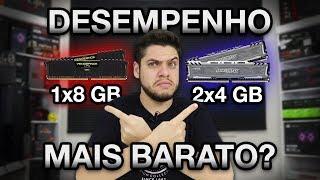 8GB ainda é o SUFICIENTE? Testes em GAMES com MEMÓRIA RAM 1x8GB 2x4GB 2x8GB.