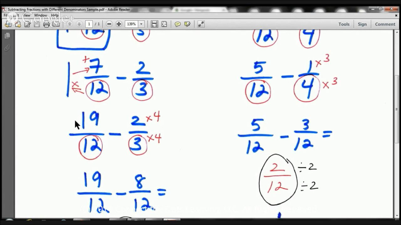 How To's Wiki 88: How To Add Fractions With Unlike Denominators 5th Grade [ 720 x 1280 Pixel ]