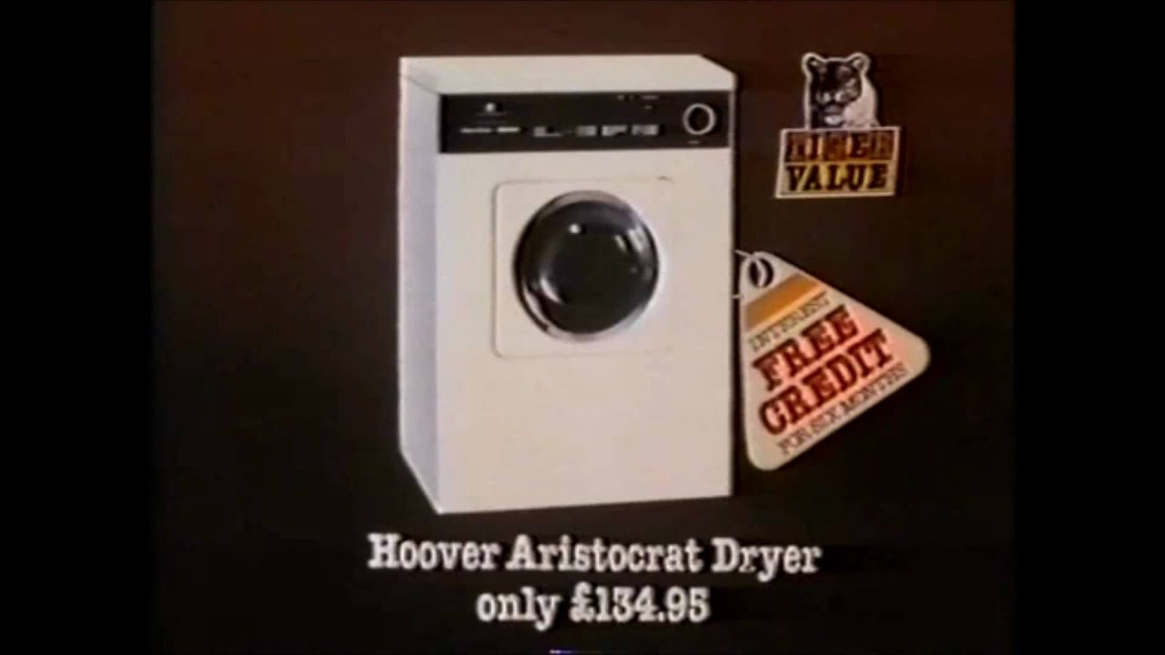 1980 Hoover Washing Machine Amp Dryer Tiger Sale Advert