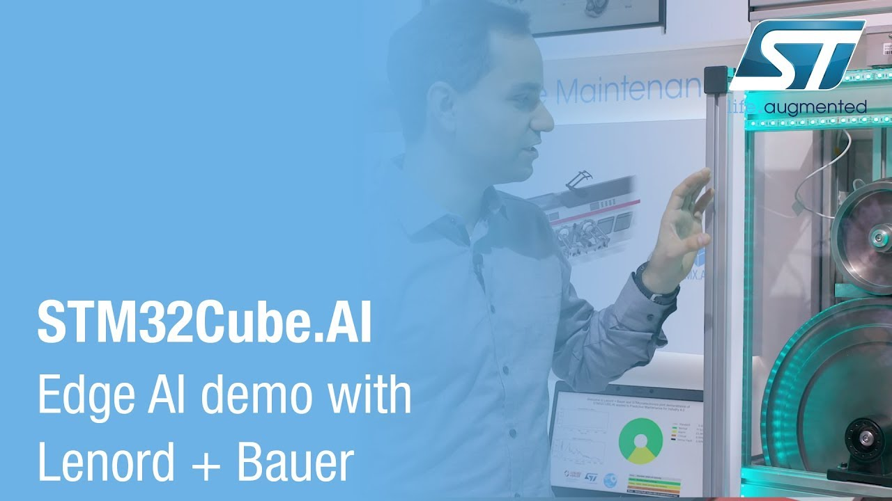 STM32Cube AI Edge AI demo with Lenord + Bauer (electronica 2018)