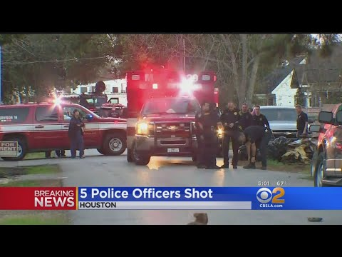 5 Police Officers Shot In Houston; 1 Of 3 Suspects Is Dead