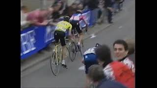 Laurent Jalabert wins the 1995 Fleche Wallone.