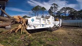 Biggest Wood Chipper Machines Modern Technology Wood Processor Big Tree Shredder Easy