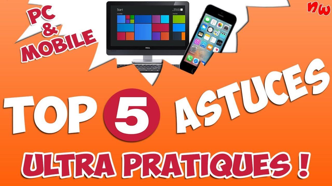 [PC & Mobile] TOP 5 ASTUCES Ultra PRATIQUES à découvrir !