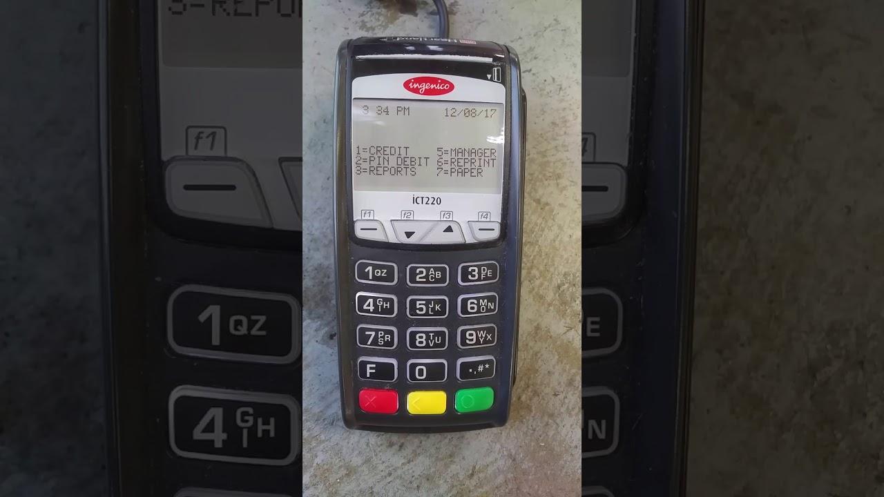 How to fix Ingenico ICT220!