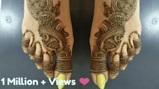 Indo Arabic Mehndi Design For Leg! Feet Mehendi Design! Leg Foot Mahendi Design 2018. #12 thumbnail