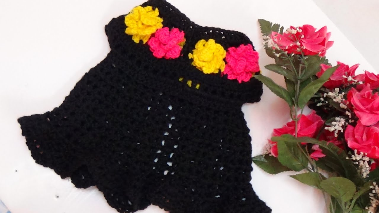 Crochet floral baby dress 1 youtube