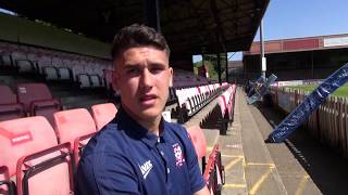 Josh Rogerson signs professional forms