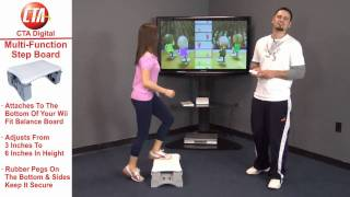 Multi Functional Aerobic Step System  for Wii Fit Balance Board
