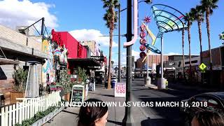 Daytime Walking Downtown Las Vegas