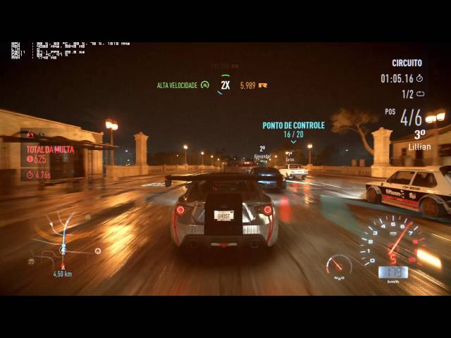 Need for Speed 4K - PC Performance Test Gtx 980 Ti (2160p)
