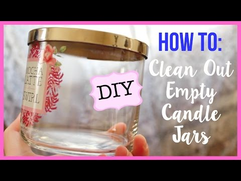 How to Clean Out A Candle Jar For Storage / Organization Hack | Bath & Body Works etc.