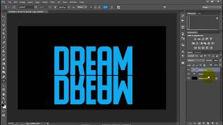 Download Photoshop toturial - Text reflectoin effect