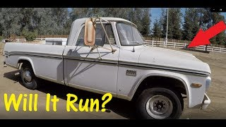 Getting The 1970 Dodge D200 Camper Special Running