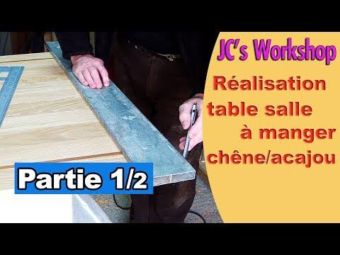 Comment faire une table de salle à manger en chêne massif et acajou Partie 1/2 #119