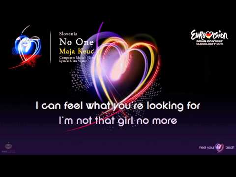 "Maja Keuc - ""No One"" (Slovenia) - [Karaoke version]"