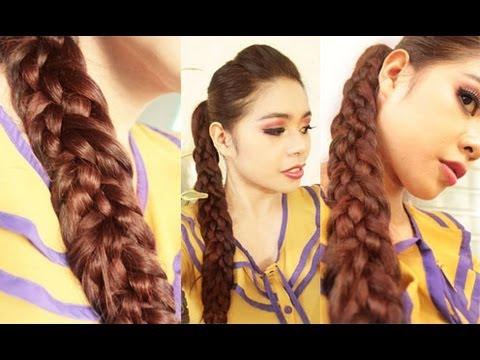 Basket weave braid hair tutorial with a no teasing hair poof youtube pmusecretfo Choice Image