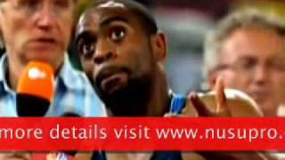 Record Usain Bolt the fastest in the world finals in 2010 (only 9.69 seconds).wmv