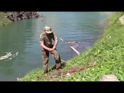 Кыргызстан 2016 -рыбалка на  речке Шебе  ( у озера  Кара суу )