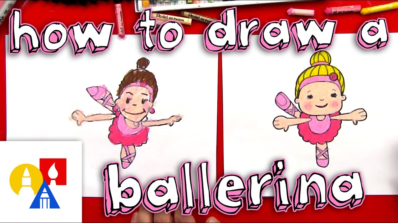How to draw a cartoon ballerina youtube for Ballerina drawing step by step