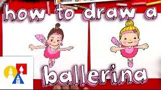 How To Draw A Cartoon Ballerina