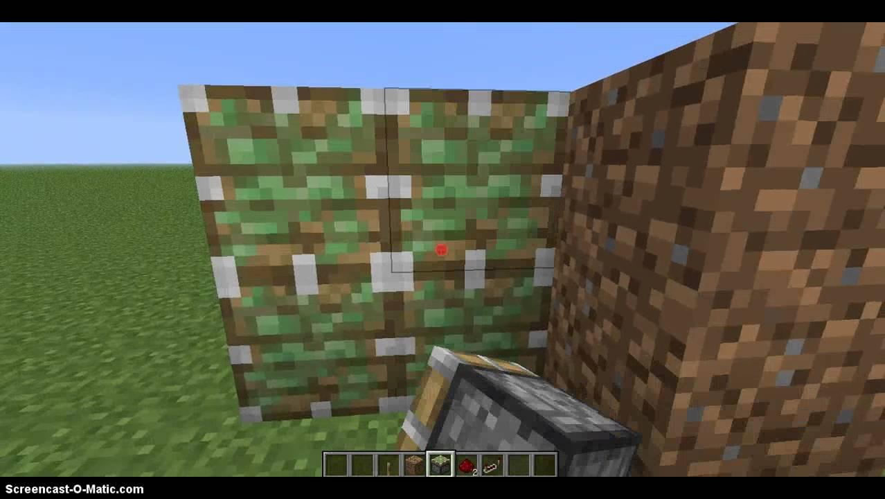 Minecraft как сделать потайную дверь фото 581