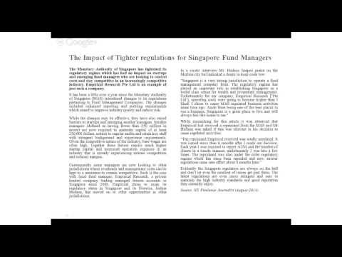 The impact of tighter regulations on small fund managers in Singapore.