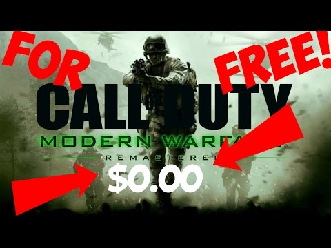 HOW TO GET COD MODERN WARFARE REMASTERED FOR FREE!! JANUARY 2017 (PS4)XBOX 1/PC)