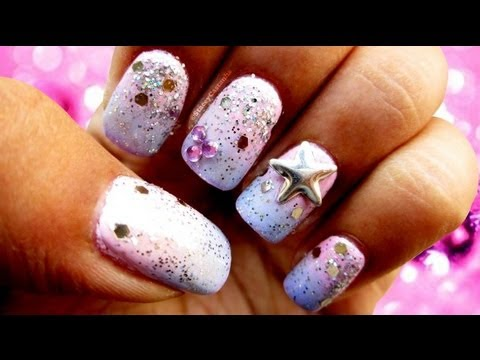 Disney Princess inspired nails | Tutorial - YouTube