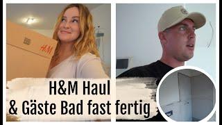 DAS GÄSTE BAD BEKOMMT FLIESEN & H&M HAUL NACH DER GEBURT | 28.07.2020 | DailyMandT ♡