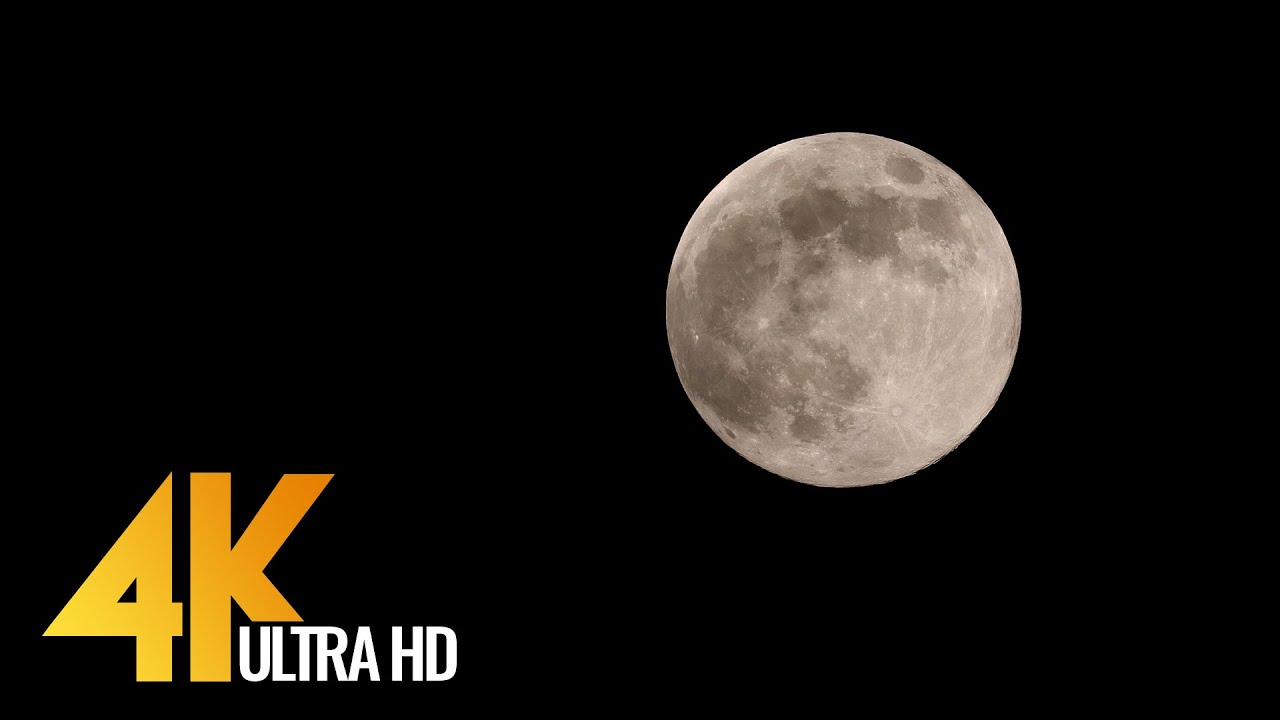 4K Supermoon - Wonderful Night Footage with Chill Out Music to Fight Insomnia