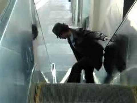 Pretend to be a Time Traveler Day, Riding an Escalator
