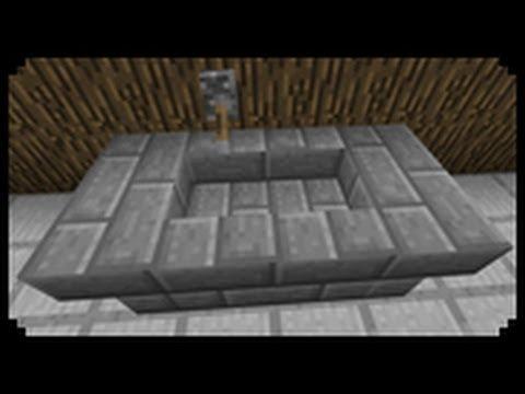 Minecraft How To Make A Bathtub You