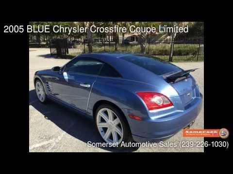 Used Cars Fort Myers >> 2005 Blue Chrysler Crossfire Coupe Limited Fort Myers Fl 33912