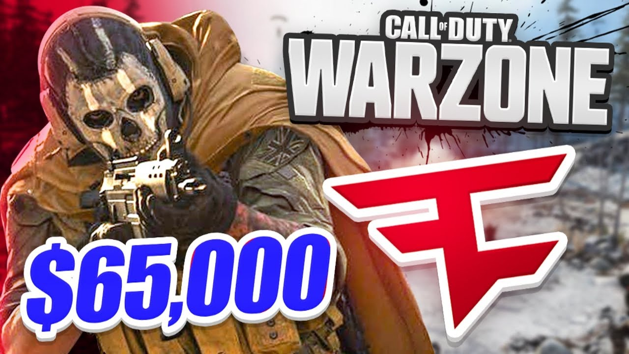 WE WON! - $65,000 FAZE WARZONE TOURNAMENT! - Week 3 (CoD Battle Royale)