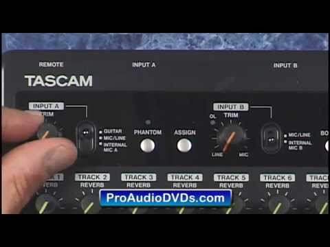 Tascam DP-03 Recording Features Review (Hi-Z Input & Tracks)