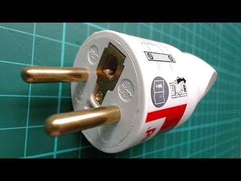How to wire a French electric plug CEE 76  YouTube