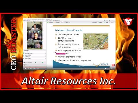 Altair Resources Inc. (AVX.V) im CEO-Roaster von Stock-Telegraph.com