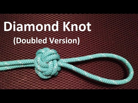 How to Tie a Diamond Knot - Decorative and Practical ... Бриллиантовый Узел