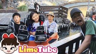 물벼락 맞는 놀이기구 타다! | 그리즐리 리버 런 디즈니랜드 캘리포니아 어드벤쳐 어트랙션 체험 LimeTube toy review