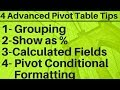 - 4 Advanced Pivot Table Tips in Excel