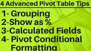 4 Advanced Pivot Table Tips in Excel