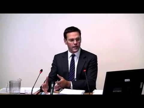 James Murdoch testifies in Leveson inquiry