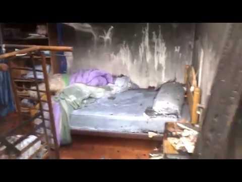 Trasladan al propietario de una vivienda que ardió por completo en Sober