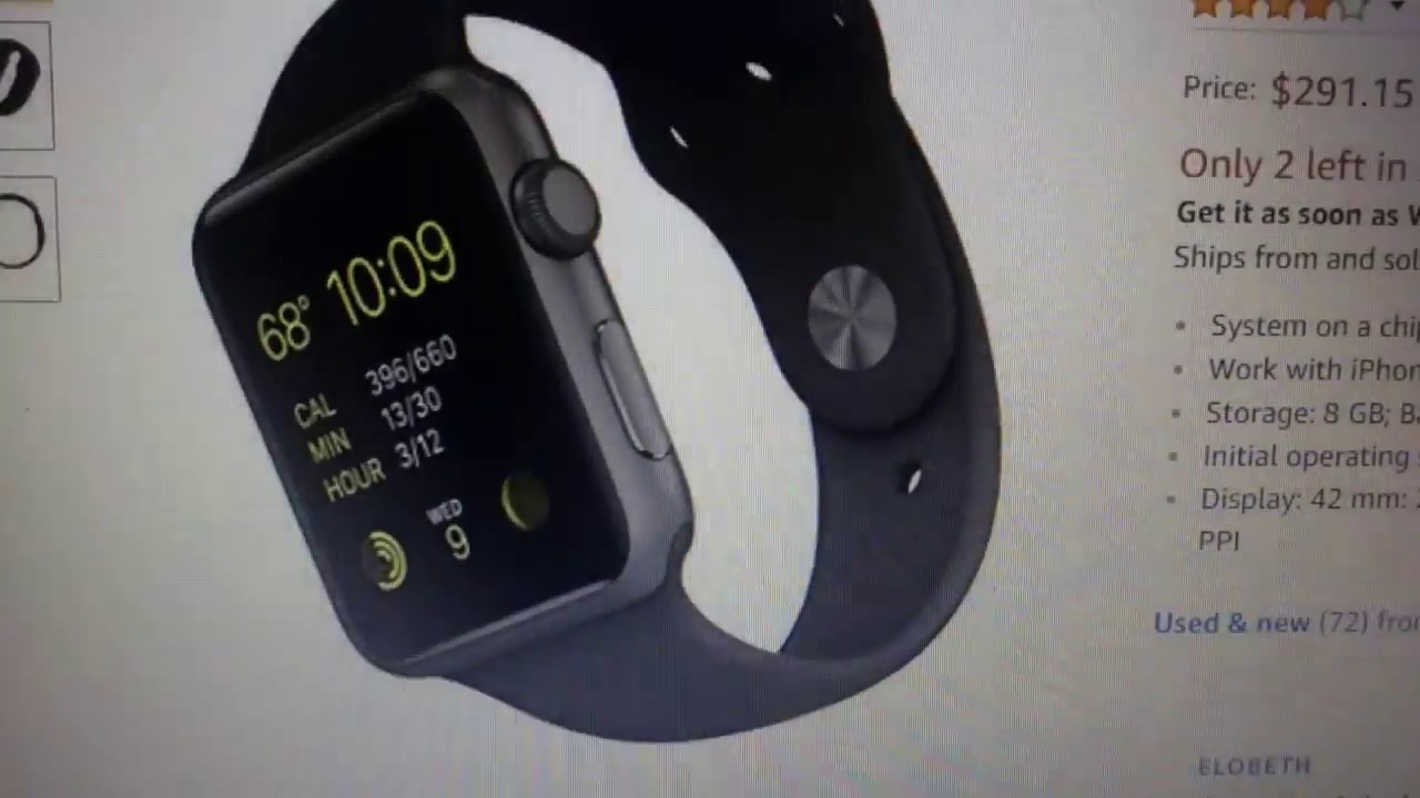 8d2d8a5ed Apple 42mm Smart Watch Cyber Monday Sale On Amazon (Review) - YouTube