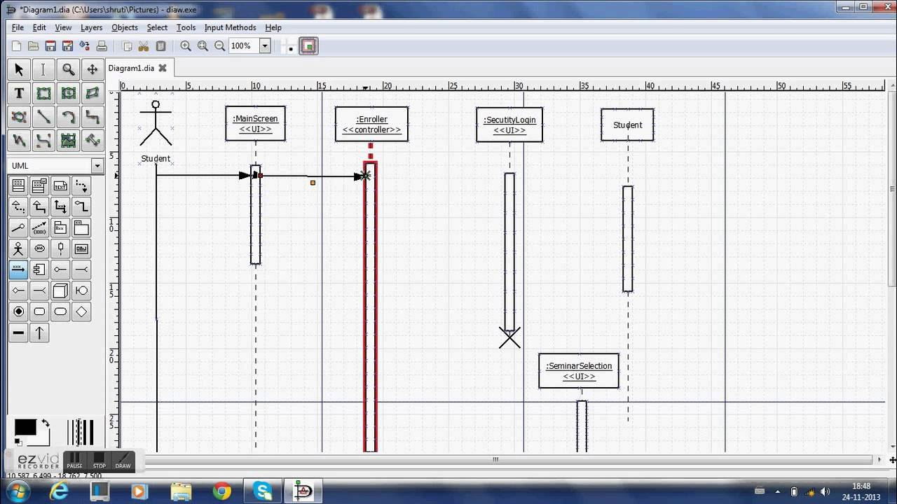 Using dia to make sequence diagrams youtube using dia to make sequence diagrams ccuart Images