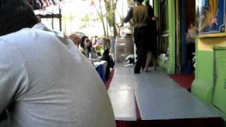 Tango en terrasse à la Boca, Buenos Aires