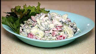 Супер простой и очень вкусный салат с редиской. Весенний салат прямо с дачи.