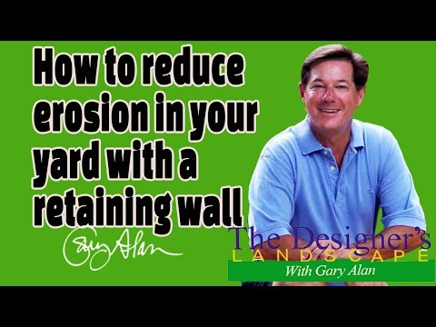 How to reduce Erosion in your yard with a Retention Wall